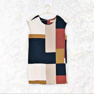 Loft mod geometric shift dress